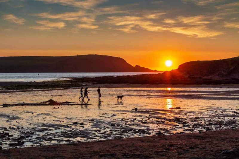 Daymer bay sunset