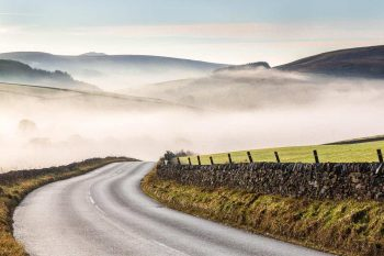 Peak District on a misty morning  - Wildboarclough