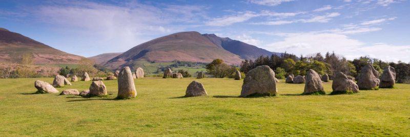 Castlerigg stones panoramic print