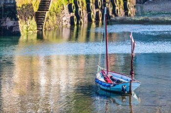 Saling boat Mevagissey Harbour