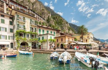Limone boats Lake Garda