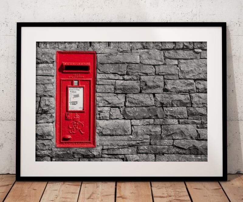 red postbox colour splash