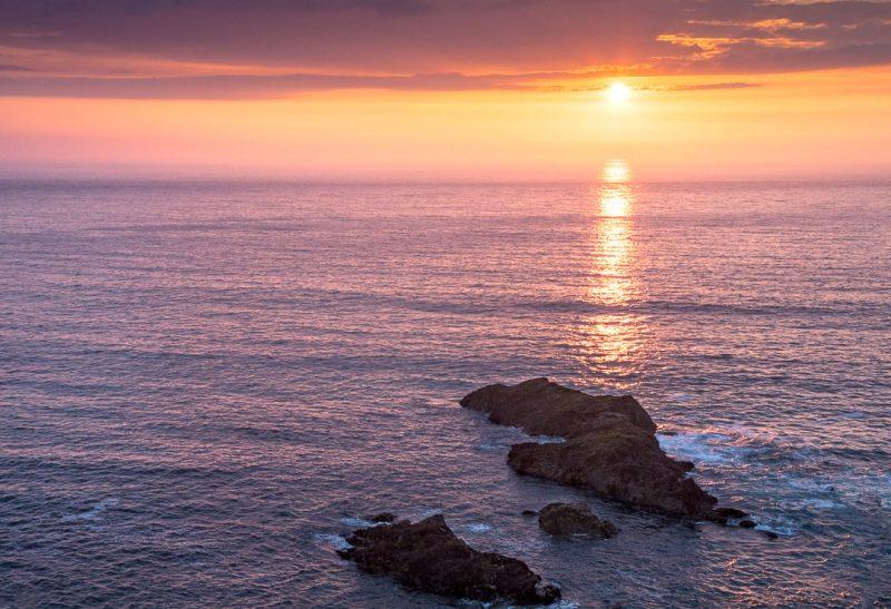 cornwall sunset polzeath